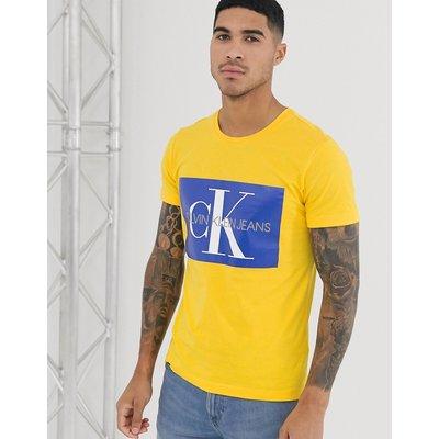 CALVIN KLEIN Calvin Klein - T-Shirt mit Monogramm-Logo - Gelb