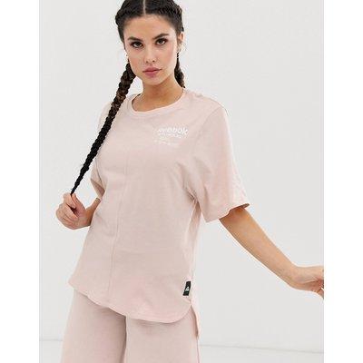 REEBOK Reebok - Training - Lang geschnittenes T-Shirt in Rosa mit Grafik - Rosa