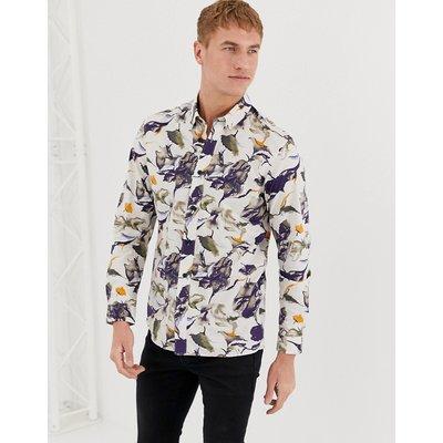SELECTED Selected Homme - Hemd mit durchgängigem Muster und regulärer Passform - Navy