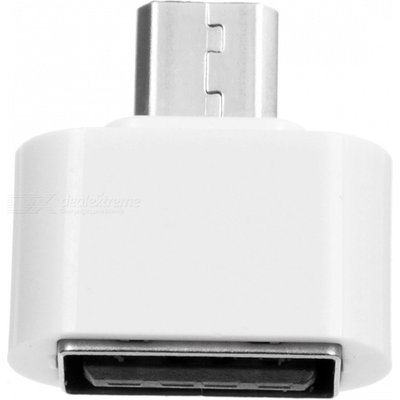 Micro USB Male to USB Female OTG Adapter - White