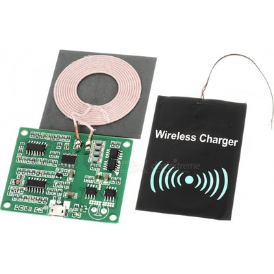 Universal DIY Qi Wireless Charger Transmitter + Receiver Modules Kit - Black