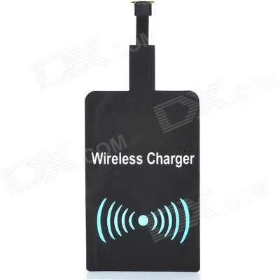 A5 Qi Micro USB Wireless Charger Receiver Module - Black + White