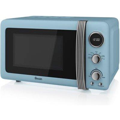 Retro 800W Digital Microwave - 5054855231237