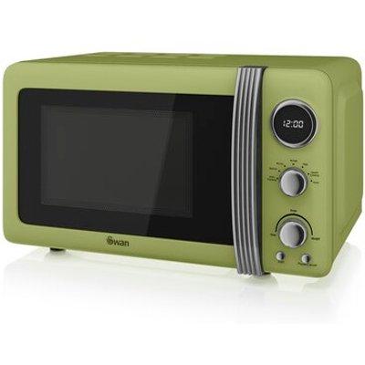 Retro 800W Digital Microwave - 5054855231824