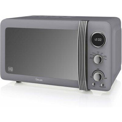 Retro 800W Digital Microwave - 5055322518851