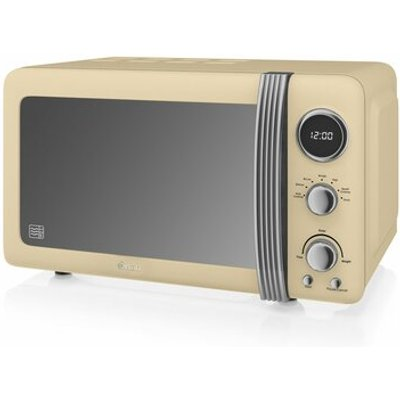 Retro 800W Digital Microwave - 5054855231596