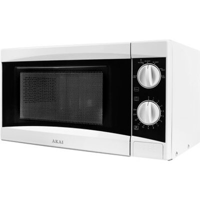 5 Star Manual Microwave Defrost and 5 Power Levels 800W 20 Litre White - 5055195855596