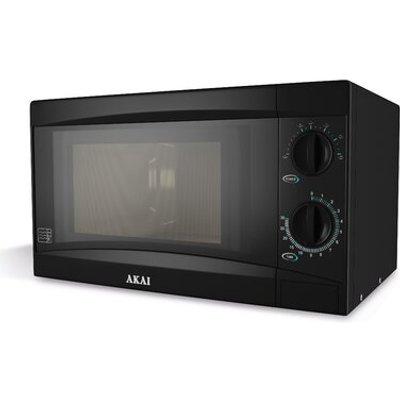 Akai 800W Manual Microwave   Black - 5055195860637