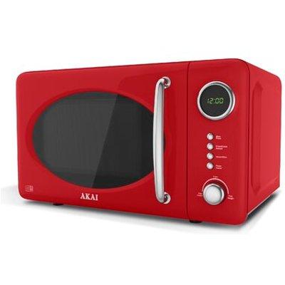 Akai Digital Microwave   Red  700w  - 5055195884282