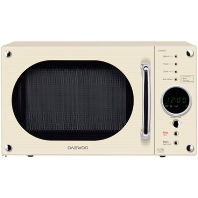 Daewoo KOR8A9RC Touch Control Microwave Oven in Cream 5031117813332