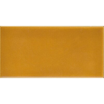 Victoria and Albert Puddle Glaze Plain 7.6 x 15.2cm Ceramic Field Tile in Glo.