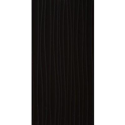 Form Wave 24.8 x 49.8cm Ceramic Field Tile in Glossy Black