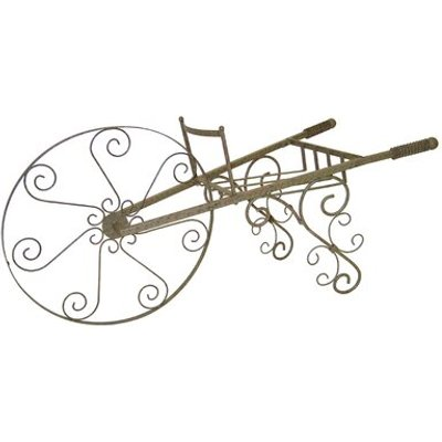 Whimsical Wheelbarrow Plant Stand, Chrome