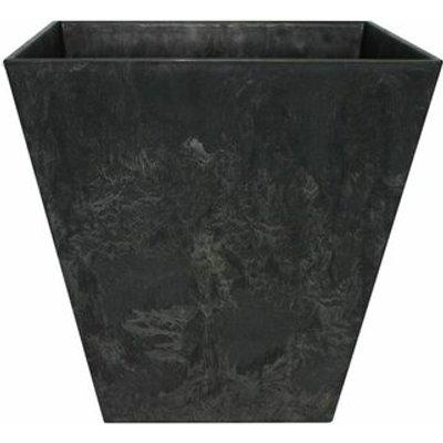 Ella Square Plant Pot, Black