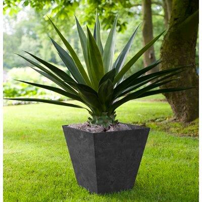 Artstone Square Plant Pot, Black
