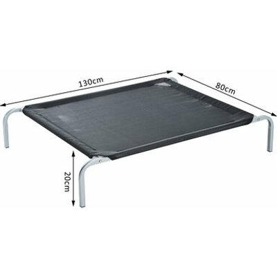 Elevated Portable Camping Raised Dog Bed in Black