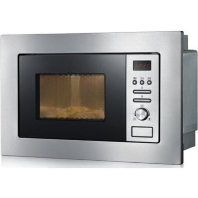 20 L 800W Built In Microwave in Brushed Stainless Steel Black - 5054929280338