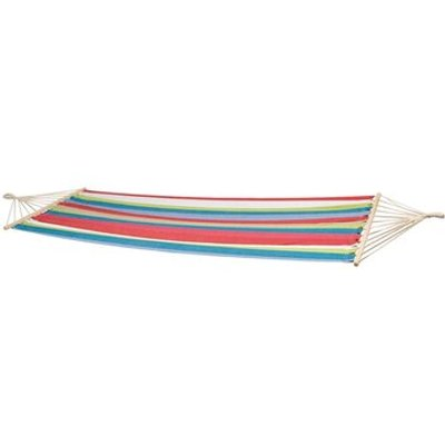 Samba Hammock with Spread Pole, Blue / Beige / Green / Red