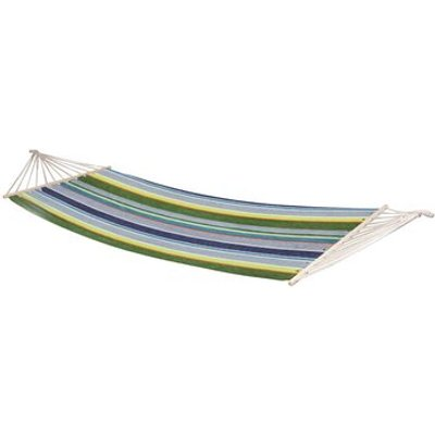 Samba Hammock with Spread Pole, Orange / Blue / Green