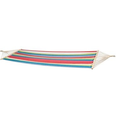 Santa Barbara Hammock with Spread Pole, Blue / Beige / Green / Red