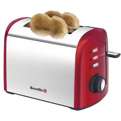5011773049719 | Breville 2 Slice Brushed Toaster in Red
