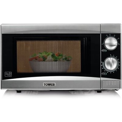 800W Manual Microwave in Silver - 5057246718744