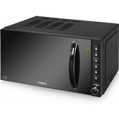 20L 800W Microwave with Digital Timer in Black - 5056032900936
