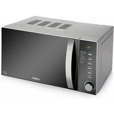 20L 800W Microwave with Digital Timer in Chrome - 5056032900844