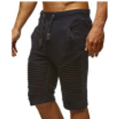 2018 Fashion Mens Shorts Summer Casual Sport Fashion Shorts for Men Knee Pleated Lac Up Waist Jogger Pants