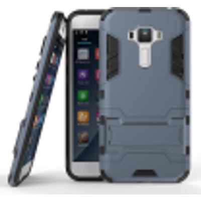 Dark blue Slim Robot Armor Kickstand Shockproof Hard Rugged Rubber Back Case For ASUS Zenfone ZD552KL