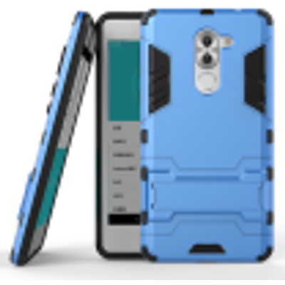 Blue Slim Robot Armor Kickstand Shockproof Hard Rugged Rubber Back Case For HUAWEI Honor 6X