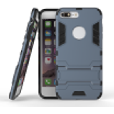 Dark blue Slim Robot Armor Kickstand Shockproof Hard Rugged Rubber Back Case For IPHONE 7 PLUS