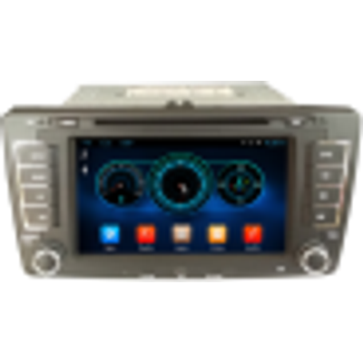 henhaoro for Skoda Octavia Capacitive touch screen car dvd player gps navigation Bluetooth AM 7
