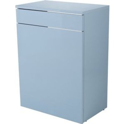 GoodHome Imandra Gloss Blue Toilet Cabinet  W 600mm  H 820mm - 3663602414919