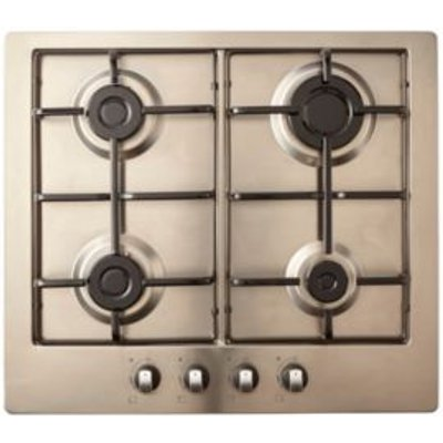 Cooke   Lewis GASUIT4 4 Burner Stainless Steel Gas Hob - 3663602842019