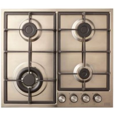 Cooke   Lewis CLGASUIT4 4 Burner Grey Stainless Steel Gas Hob - 3663602842057