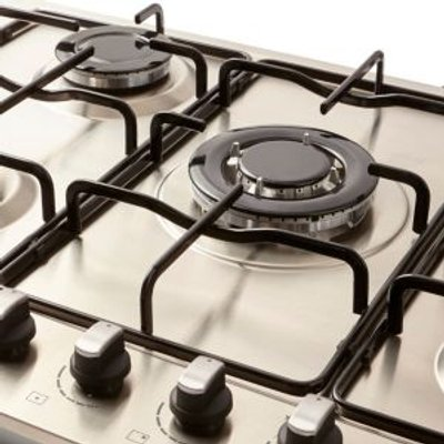 Cooke   Lewis GASUIT5 5 Burner Stainless Steel Gas Hob - 3663602842071