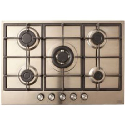 Cooke   Lewis CLGASUIT5 5 Burner Grey Stainless Steel Gas Hob - 3663602842095