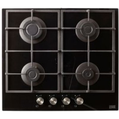 Cooke   Lewis CLGOGUIT4 4 Burner Black Glass Gas On Glass Hob - 3663602842170