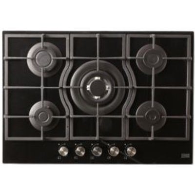 Cooke   Lewis CLGOGUIT5 5 Burner Black Glass Gas On Glass Hob - 3663602842217