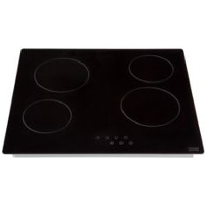Cooke   Lewis CLCER60 4 Burner Black Glass Ceramic Hob - 3663602842255