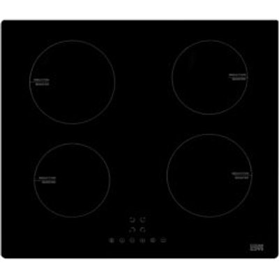 Cooke   Lewis CLIND60 4 Burner Black Glass Induction Hob - 3663602842309