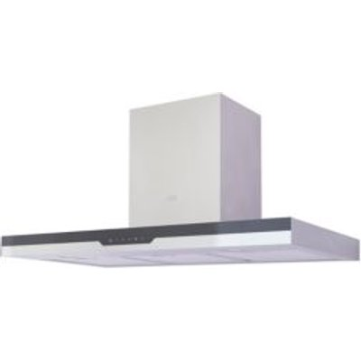 Cooke   Lewis CLBHS90 Steel   Glass Box Cooker Hood   W  900mm - 3663602842514