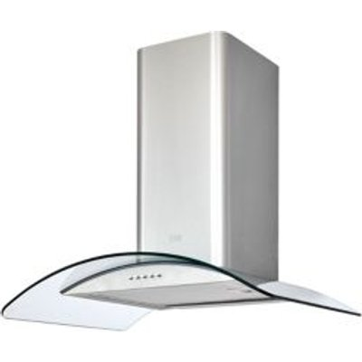 3663602842590 | Cooke   Lewis CLCGS60 Inox Stainless Steel Curved Glass Cooker Hood   W  600mm