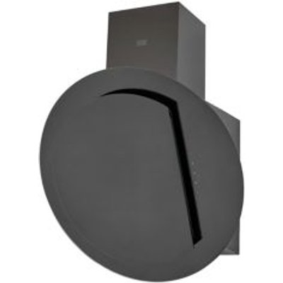 3663602842668 | Cooke   Lewis CLRGB60 Black Glass Angled Cooker Hood   W  600mm