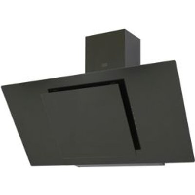 Cooke   Lewis CLAGB90 Black Steel   Glass Angled Cooker Hood   W  900mm - 3663602842682