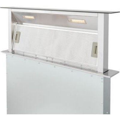 3663602842729 | Cooke   Lewis CLDHB90 Steel   Glass Downdraft Cooker Hood   W  900mm