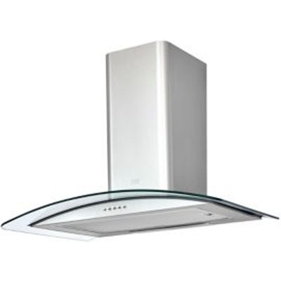 3663602842774 | Cooke   Lewis CLCGS70 Inox Stainless Steel Curved Glass Cooker Hood   W  700mm
