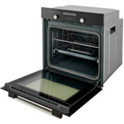 Cooke   Lewis CLPYBL Black Electric Pyrolytic Single Oven - 3663602842873
