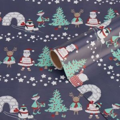Blue Character Wrapping paper